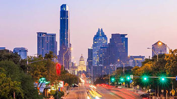 Explore Austin with a coach bus and a group of friends!