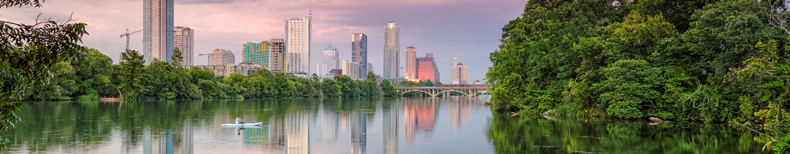 Explore Austin by renting a charter bus.
