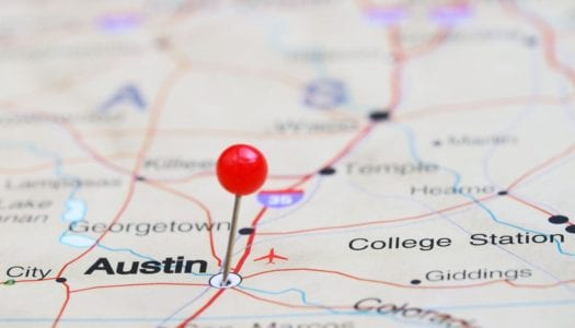 Austin, TX on the map